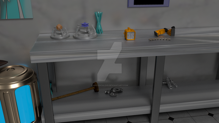 Kitbash Project Workbench Close up by MNSVocaloid