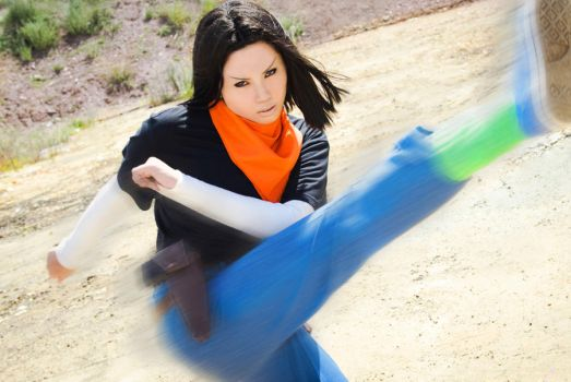 Dragon Ball Z: Android 17 by silverharmony