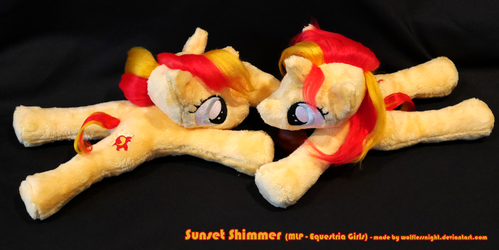 Sunset Shimmer - Beanie Plushies by Wolflessnight