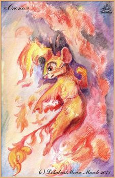 Fire mouse by DekabristMouse