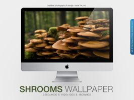 Mushrooms Wallpaper by MrFolder