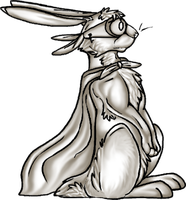 free Super Rabbit pose by MooiLeven