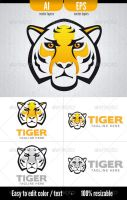 Tiger - Logo Template by doghead