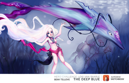 July Hero Challenge: The Deep Blue by BemiTellove