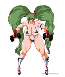 [P] Super Strong Babe Working Out 3 by OAD-art