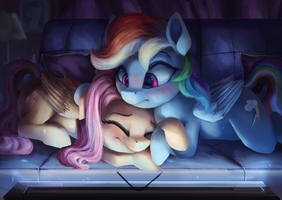 Movie Night by VanillaGhosties