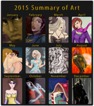 2015 Summary of Art by Comical1