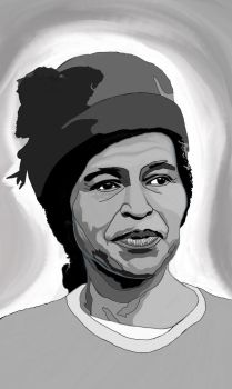 Rosa Parks Portrait by AnansiOneiros