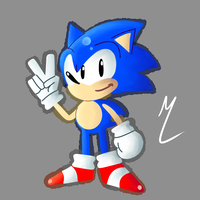 Good Ol Classic Sonic by Darkspike75