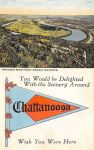 Vintage Tennessee - Moccasin Bend, Chattanooga by Yesterdays-Paper