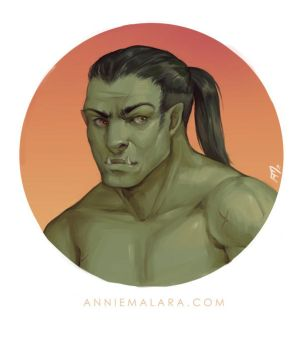 Half-Orc Portrait Commission by merely-A