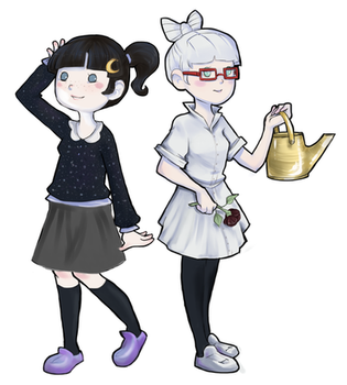 Qeius and Lili Animal Crossing by Liliumm