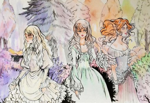 Girls in the Forest by Risata