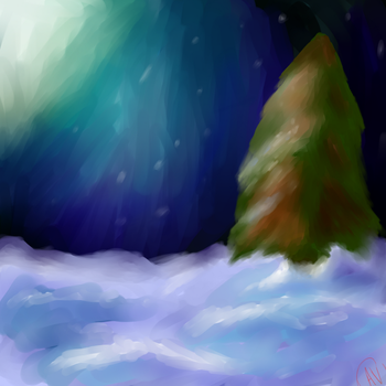 Wintery Night by Karmen4290