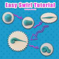 Easy Swirl Tutorial by NaughtyBirdBoutique