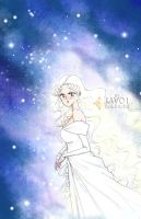 sailor moon - serenity and the cosmos by zelldinchit