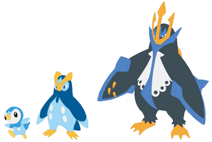 Piplup, Prinplup and Empoleon Base