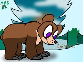 Chinook the Grizzly Bear by AhO4464