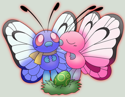 Butterfree Family Picture