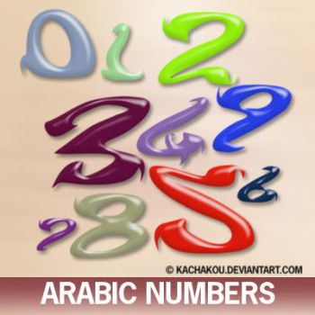 arabic numbers by kachakou