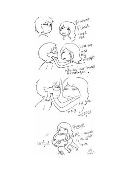 Overly attached little sister by AlphaRabbitHerder
