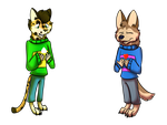 Randy and Cinus as Undertale Characters by CinusTheHuskyWolf02