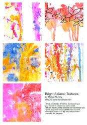 Bright Splatter Textures by MechaBerry