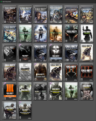 Call of Duty Series by GameBoxIcons