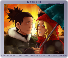 OCTOBER - ShikaTema Calendar 2014 by Lilicia-Onechan