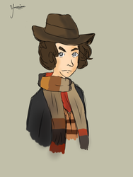 Fourth doctor sketch by zaldwhen