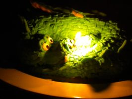 Flaming Dragon Cake by MomIsMean