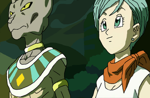 Bills and Bulma Drawing by CatCamellia