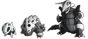 Pokemon Aron Lairon Aggron Evolution