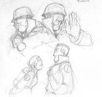 Soldier Sketches by Erikonil