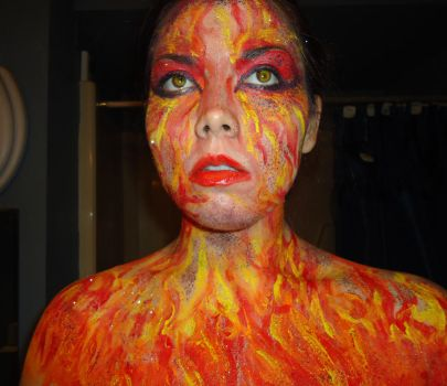 Fire body paint 2 by stinafacexd
