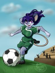 Commission - Christine, Soccer Star by Kuurion