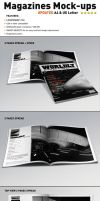 Realistic Magazine Mock-ups Templates by andre2886