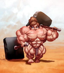 Gritts the Littlest Barbarian [Commission] by JanRockitnik