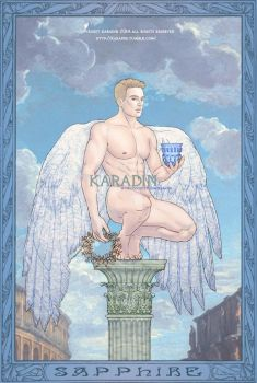 Sapphire Gemstone Meditation Card by karadin