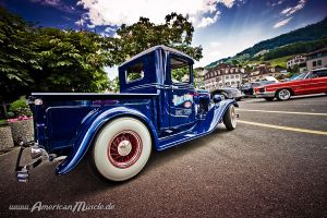 blue hot rod truck by AmericanMuscle