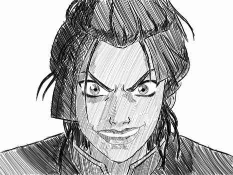 quick Azula sketch by mabrego
