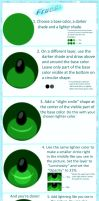 How to draw anime eyes Free! Style. by helrote