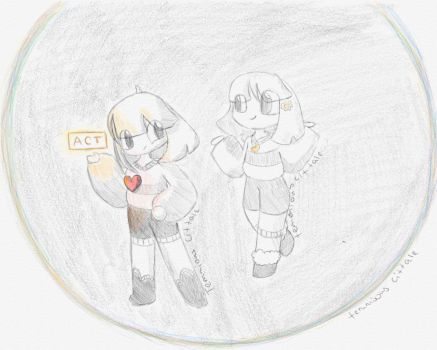 Cittale chara and frisk by Temmious