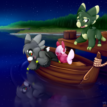 (Collab) Midnight Mooring by theYTfox