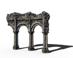 Free Stock PNG:  Old Arch Ruins by ArtReferenceSource