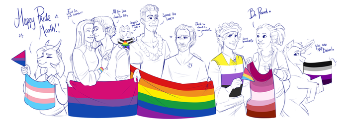 Happy Pride Month Everybody! by RomyvdHel-Art
