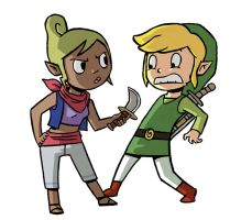 Tetra and Link by captainsponge