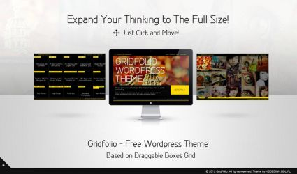 Gridfolio - Free Wordpress Theme by Krzyho