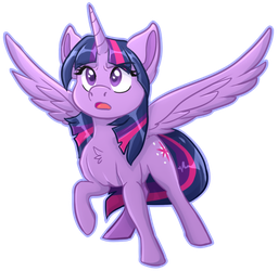 Angry Twilight Sparkle Chibi by ObscuredFlower