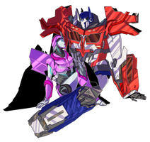 C: Optimus Prime (Beast Hunters) x Laurelin by I-Muria-I